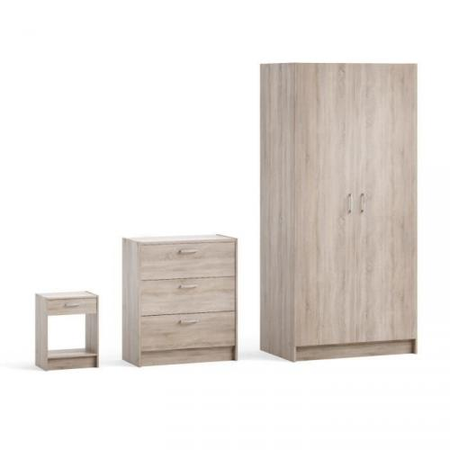 MOOVE PACK 3 meubles armoire commode chevet
