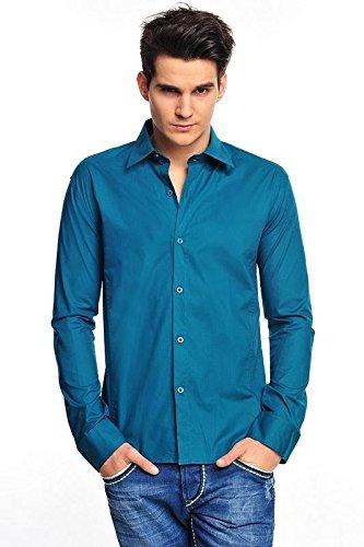 Tazzio - Chemise casual - Uni - Homme -  Turquoise - Large