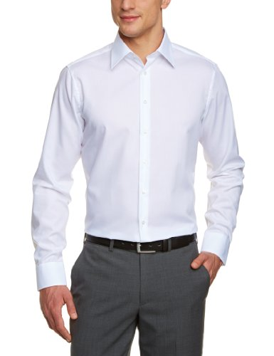 Schwarze Rose - Chemise business - Ville - Monochrome - Col chemise classique - Manches longues Homme - Blanc - Weiß (weiß 01) - FR : Small (Taille fabricant : 38)