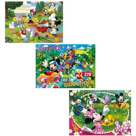 CLEMENTONI Lot 3 puzzles Mickey 150 pièces Disney