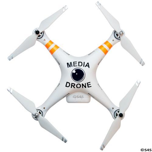 DJI Phantom Media Drone Decal Phantom 2 3 FPV Drone Quadcopter