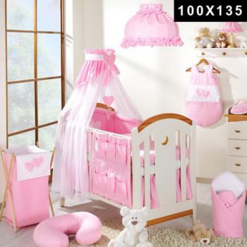 Ensemble 11 pièces - CSur rose - Lit de 70 cm - 100x135