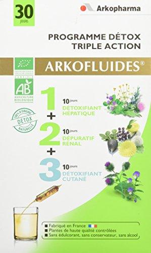 Arkopharma Agriculture Bio Programme Détox Coffret de Détoxifiant Hépatique + Dépuratif Rénal + Détoxifiant Cutané 30 Ampoules