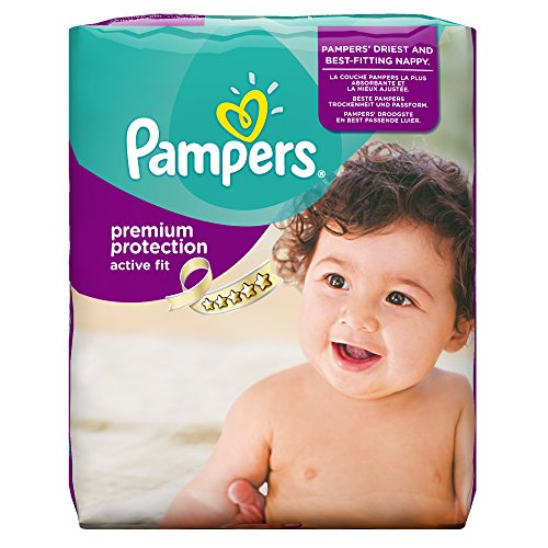 Pampers Active Fit Couches Pack Economique 1 Mois de Consommation x 168 Couches Taille 4( 7-18 kg)