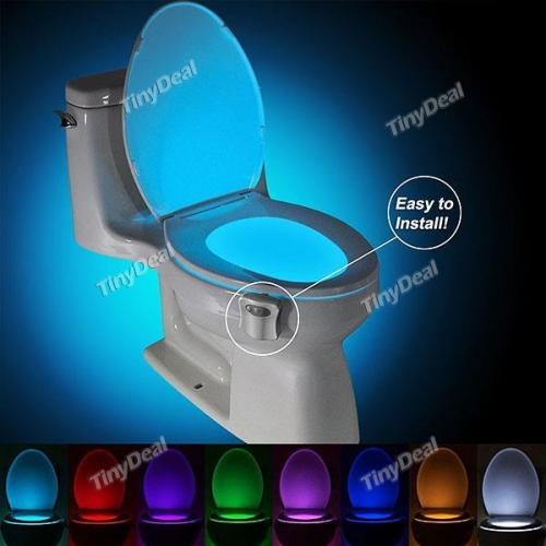 8 Colors Motion Activated Sensor Toilet Nightlight
