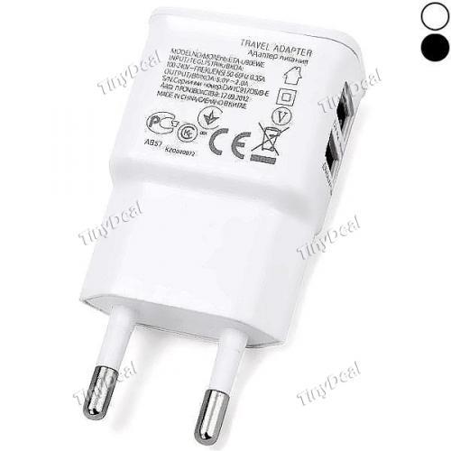 Dual USB Output Ports 2.0A EU Plug Wall Charger