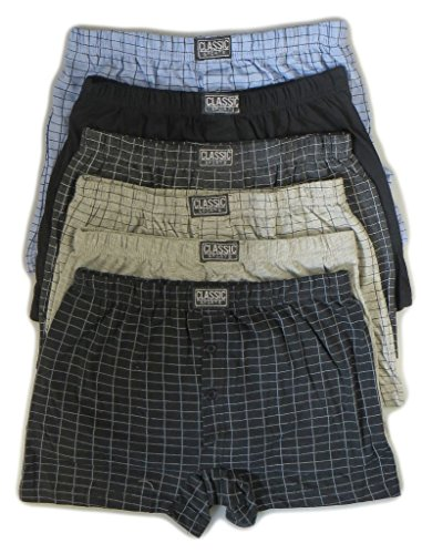 Calvin Cotton - Caleçon -  Homme -  - Black/Blues/Greys (assorted) - Large