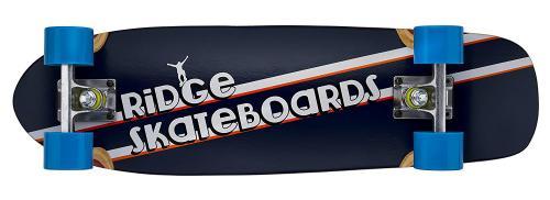 "Ridge Skunkslider 26"" Short Cruiser Skateboard Skate Longboard Planche a Roulettes 67cm complet avec 12 Couleurs de Roues"