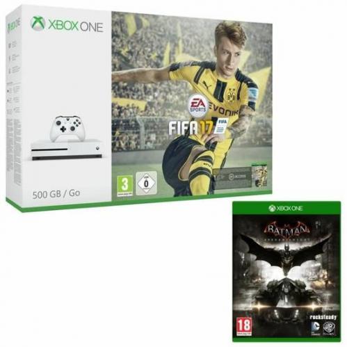 Xbox One S 500 Go FIFA 17   Batman Arkham Knight