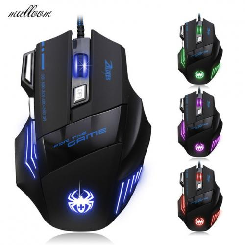 Souris Gamer Gaming Multi Couleur LED Optique USB Filaire Gaming Mouse Pour Pro Gamer Livraison gratuite