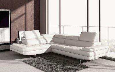 Canapé d'angle BEAUTY en cuir haut de gamme italien vachette Vénésetti
