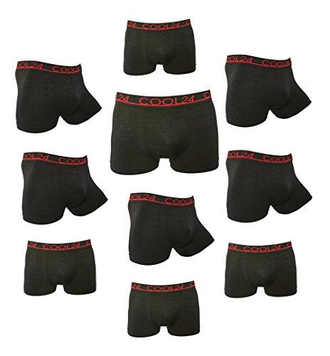 Pack de 10 COOL24 Boxers en microfibre sans couture - Homme - M