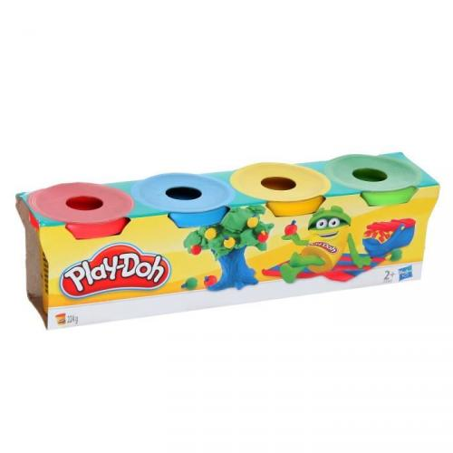 PLAY DOH 4 Pots Couleur Asst Mini