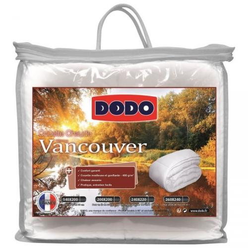 DODO Couette chaude 400 gr/m² VANCOUVER 220x240 cm blanc