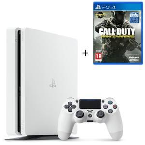 Nouvelle PS4 Slim Glacier White 500 Go   Call Of Duty Infinite Warfare