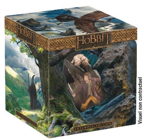 Le Hobbit : Un voyage inattendu - Version Longue - Coffret limité avec statue [Version longue   Statue collector Bilbo & Gollum - Blu-ray 3D   Blu-ray   DVD   Copie digitale - Édition Limitée]