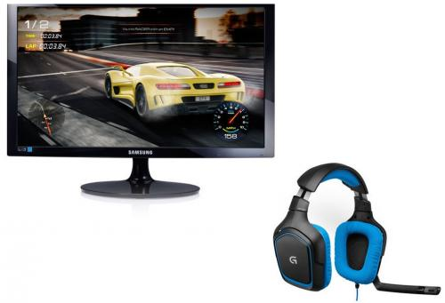 Samsung - Moniteur LED 24   1920 x 1080 VGA/HDMI 1 ms   Casque Gamer surround Logitech G430 SAMSUNG- Moniteur LED 24   1920 x 1080 VGA/HDMI 1 ms   Casque Gamer surround Logitech G430