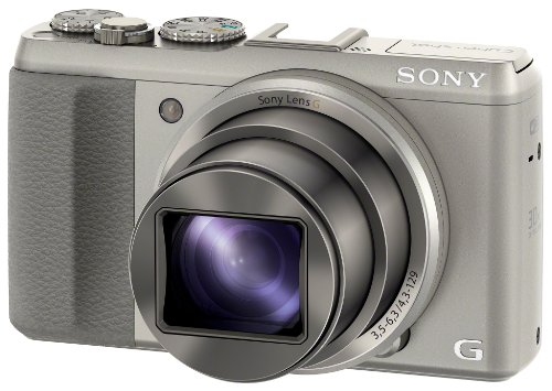 """Sony DSC-HX50 Appareil photo numérique 3D Ecran 3"""" 20 Mpix Zoom optique 30 x HDMI WiFi USB Argent"""