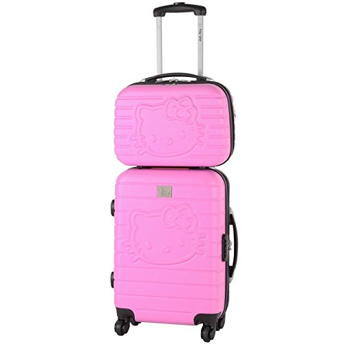 Hello kitty - Valise Cabine + Vanity 54cm - Rose