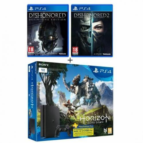 Nouvelle PS4 Slim 1 To   3 Jeux