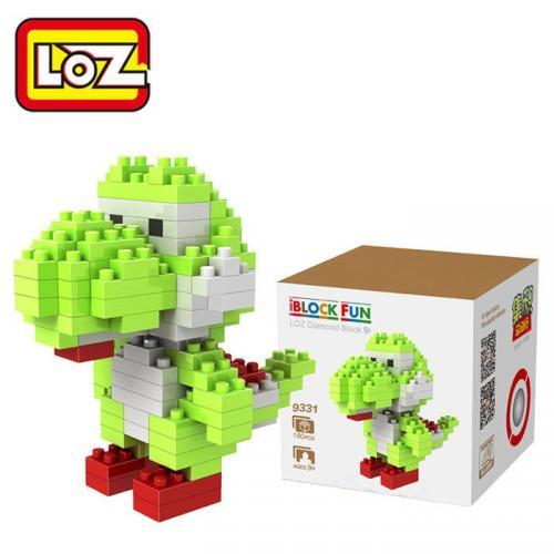 LOZ 130Pcs Super Mario Yoshi Jeu de Cubes Educatif Jouet d'Enfant M