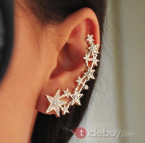 Boucles d'Oreille Ear Cuff Rhinestone Etoile