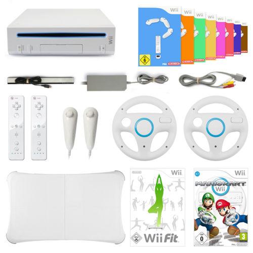 Wii GigaSet - Konsole   Remote   Mario Kart   Wii Fit   8 Spiele   Balance Board