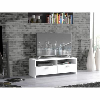 FINLANDEK Meuble TV HELPPO contemporain blanc