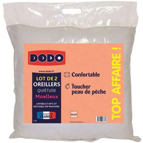 DODO Lot de 2 oreillers moelleux microfibre QUIETUDE