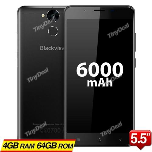 """BLACKVIEW P2 MTK6750T Octa-core 5.5"""" FHD Android 6.0 4G Phone 13MP CAM 4GB RAM 64GB ROM 6000mAh Touch ID OTG"""