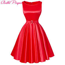 Poque Jurken Femmes Dress Rouge