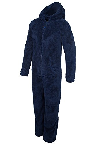 Mountain Warehouse Yogi Grenouillère Homme Polaire Cocooning Respirant Chaud Anti Boulochage Bleu Marine Small / Medium