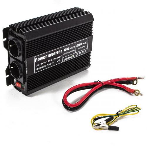 Convertisseur de tensions power inverter 1000/2000W DC 12V -Greencut