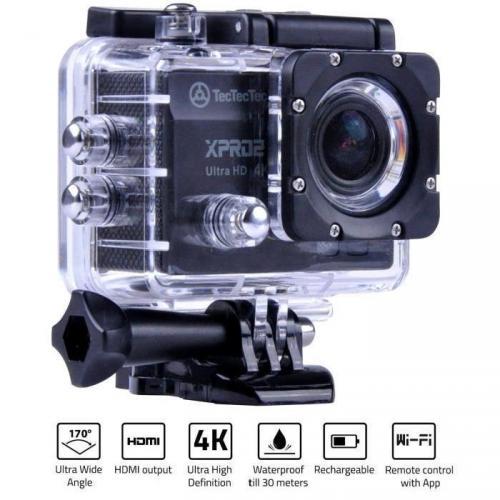 TECTECTEC XPRO2 NOIRE: Caméra Sport Ultra HD - Cam
