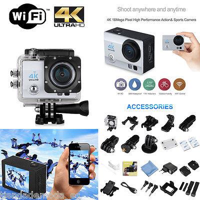 """Q6 2.0"""" HD 4K 1080P 16M WIFI Suport 64GB SD 30M Étanche 4X Zoom Sport Caméra"""