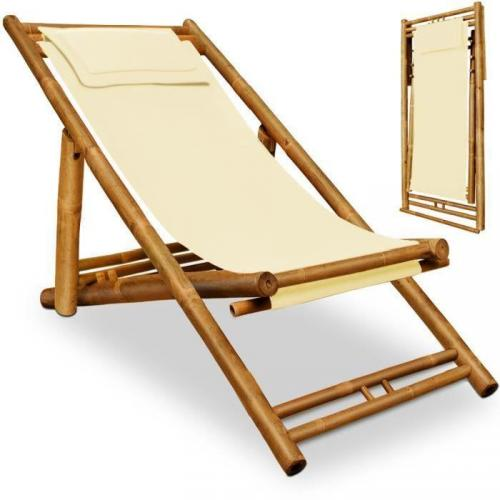 Chaise longue Transat en Bambou