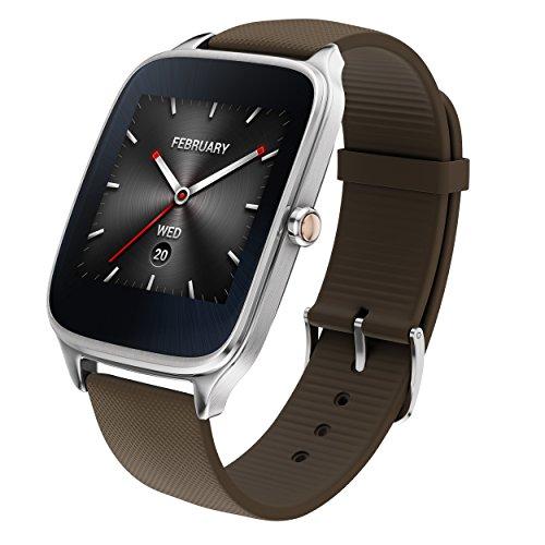 """ASUS WI501Q (BQC)-1RTUP0011 Bracelet de 1,63"""" (Qualcomm Snapdragon 512 Mo de RAM 4GB eMMC Bluetooth WiFi Android Wear acier inoxydable) marron-gris foncé"""