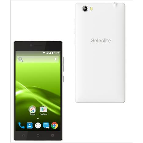 SELECLINE Smartphone - 5 pouces - Blanc - Double sim
