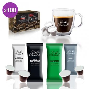 Capsules compatibles Machine Nespresso x100