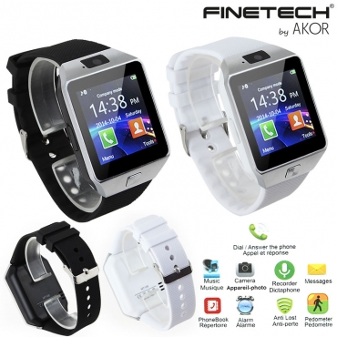 Montre SmartWatch Connectée 2 en 1 IOS & Android Finetech®
