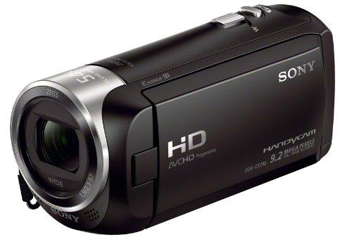 Sony HDR-CX240 Caméscope Handycam avec objectif grand angle 29,8 mm ZEISS, SteadyShot et 130 minutes d'autonomie Noir