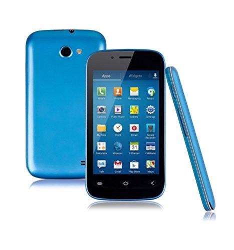 UBBIU - Smartphone débloqué 3G+ (Ecran : 4.0 pouces - 4 Go - Android 4.2) - Bleu