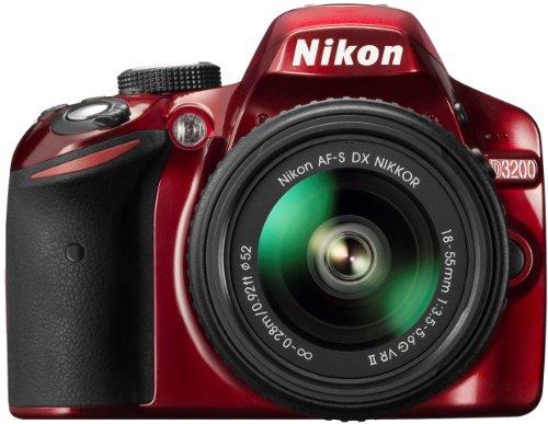 Nikon D3200 Kit rouge + AF-S DX 18-55 VR II