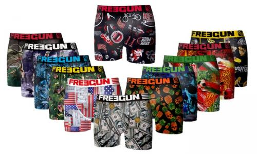 Pack surprise de 6 boxers Freegun en microfibre