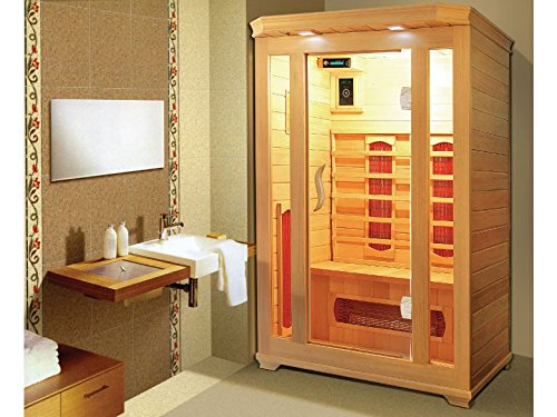 Viva Forme - Cabine de sauna Infrarouge Milla - 2 places - 120x120x190cm