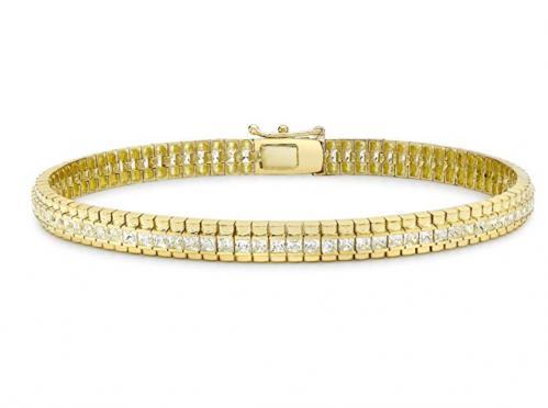 Carissima Gold - Bracelet - Femme - Or jaune (9 cts) 11.5 Gr - Oxyde de zirconium