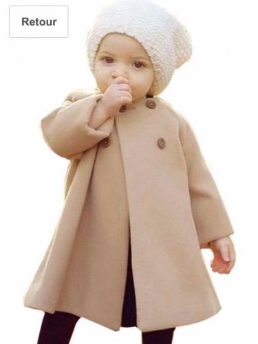 Mamum Manteaux à capuchon Fille Bébé Hiver Automne