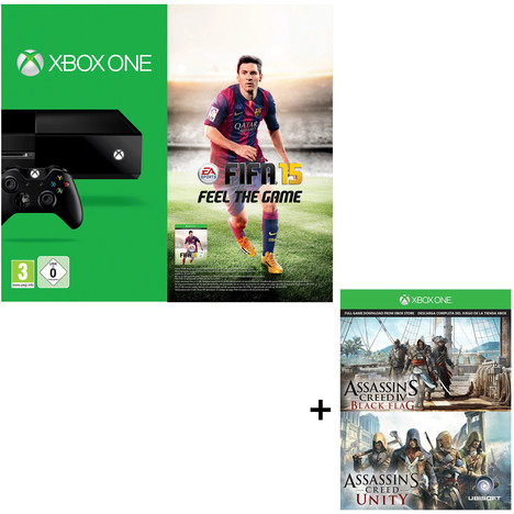 Console Xbox One   3 jeux