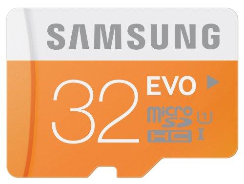 Samsung 32 Go Carte Mémoire EVO Micro SD Classe 10 sans adaptateur MB-MP32D/EU