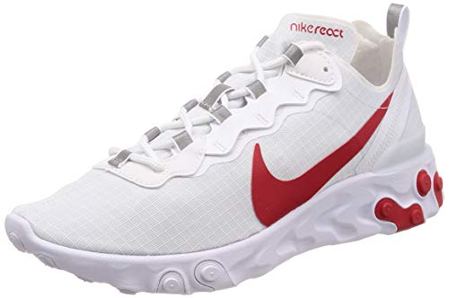 Nike React Element 55 Se Su19, Chaussures d'Athlétisme Homme, Blanc (White/University Red 102), 43 EU